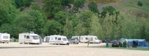 View of caravan park