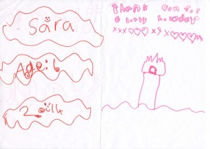 Sara Age 6