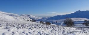 Snow behind Dumyat 2018